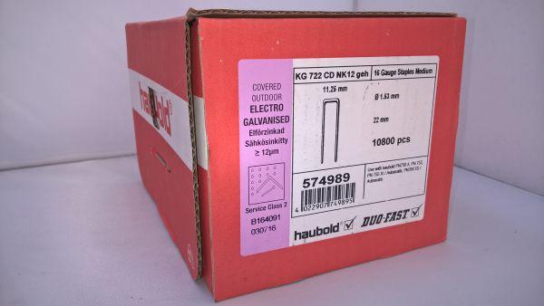 Haubold Klammern KG 722 CDNK/H - 10800 Stück