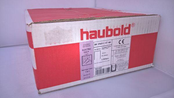 Haubold Klammern BK 2565 CNK/H - 3500 Stück