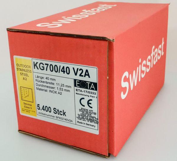KG740CRF geharzte Rostfreie Klammern 40mm mit ETA für Swissfast / Haubold Geräte