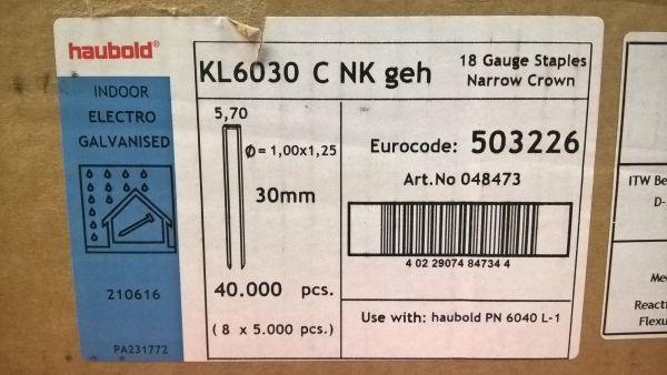 Haubold Klammern KL 6030 CNK/H - 5000 Stück
