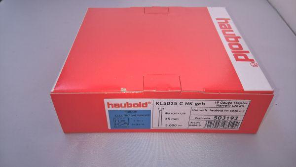 Haubold Klammern KL 5025 CNK/H - 5000 Stück