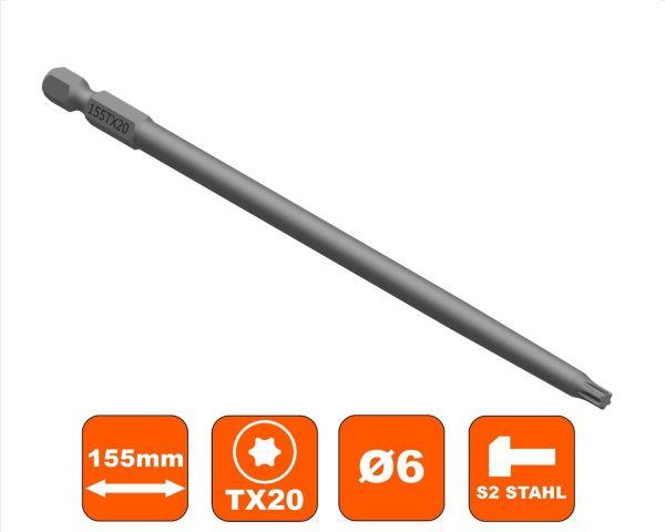Bit 155 mm Torx TX-20 Antrieb