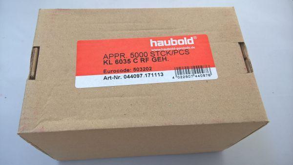 Haubold Klammern KL 6035 CRF - 5000 Stück