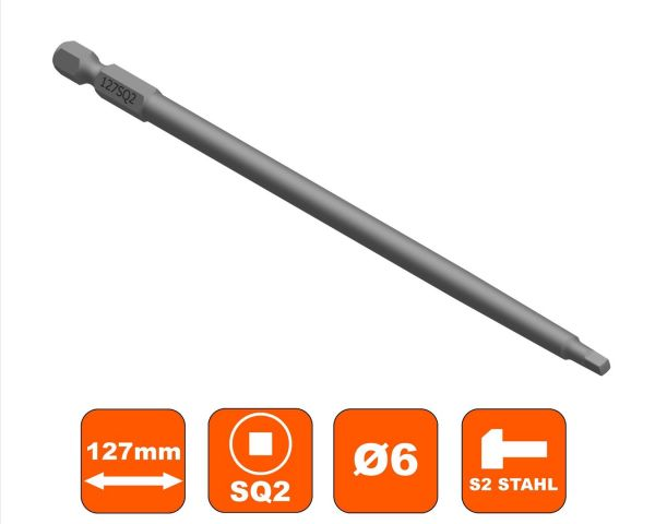 Ersatzbit Makita 6832, Square Drive SQ-2 Antrieb 127 mm