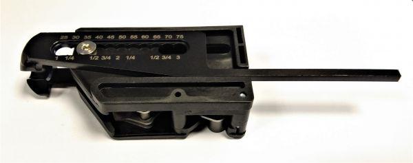 Gleitstück inkl. Tiefenanschlag bis 80 mm