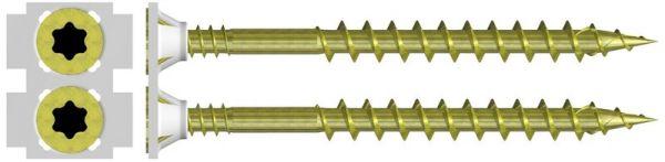 5.0 x 80mm magazinierte Holzbauschrauben, gelb verzinkt, Torx25, 500 Stück
