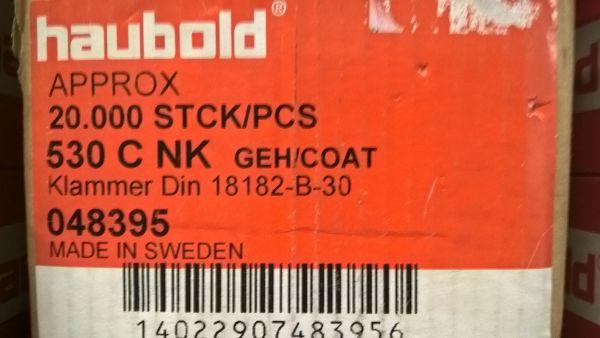 Haubold Klammern KL 530 CNK/H - 5000 Stück