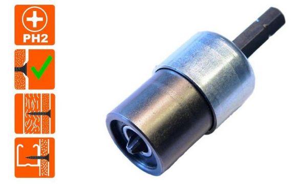 Gipskartonplatten Tiefenanschlag - Schraubkupplung SD-2 mit Magnet