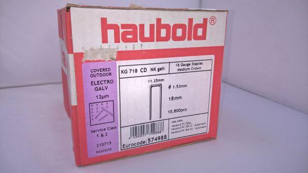 Haubold Klammern KG 718 CDNK/H - 10800 Stück