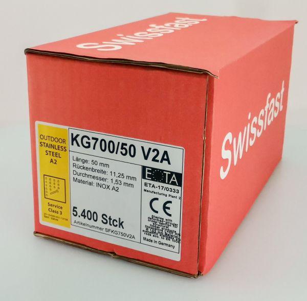KG750CRF geharzte Rostfreie Klammern 50mm mit ETA für Swissfast / Haubold Geräte