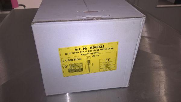 RNC-S 2.8 x 55, Nagelschrauben TX15 Rostfrei A2, 0-Grad, 4500 Stk.
