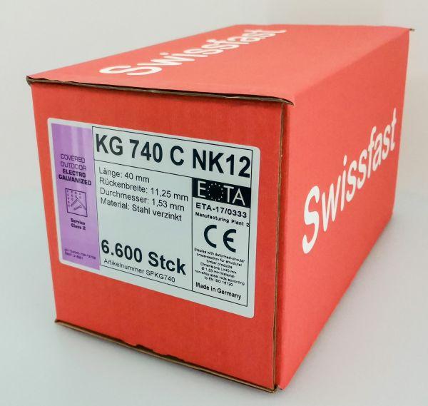 KG740CNK geharzte Klammern 40mm mit ETA für Swissfast / Haubold Geräte