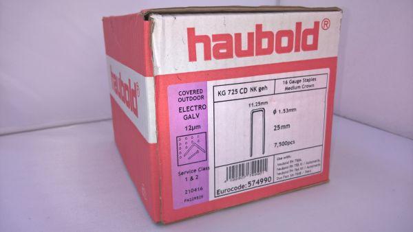Haubold Klammern KG 725 CDNK/H - 7500 Stück