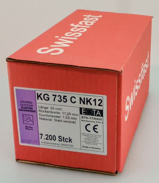 KG735CNK geharzte Klammern 35mm mit ETA für Swissfast / Haubold Geräte