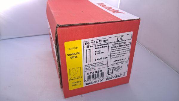 Haubold Klammern KG 740 CRF - 5400 Stück
