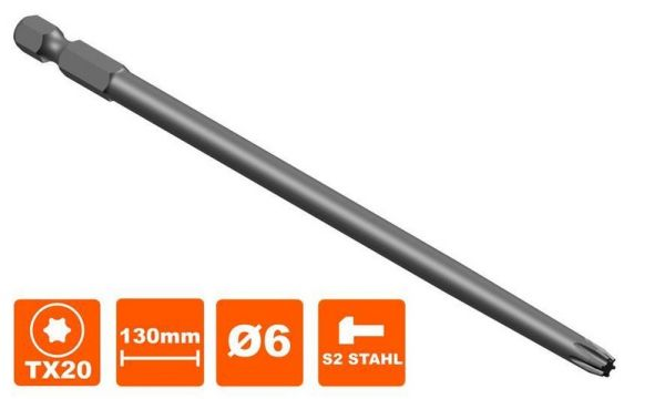 Bit 130 mm Torx Tx-20 Antrieb