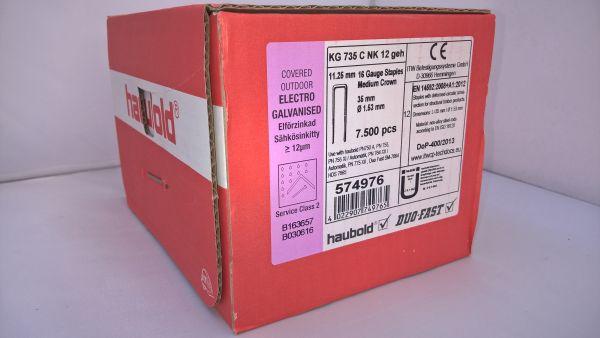 Haubold Klammern KG 735 CNK/H - 7500 Stück