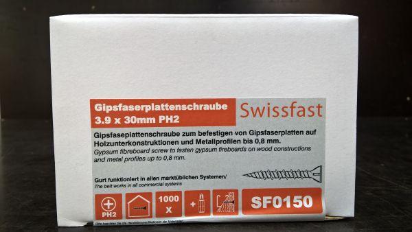 3.9 x 30mm Schnellbauschraube für Gipsfaserplatten, 1.000 Stück inkl. Bit