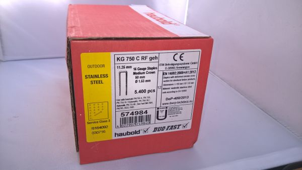 Haubold Klammern KG 750 CRF - 5400 Stück