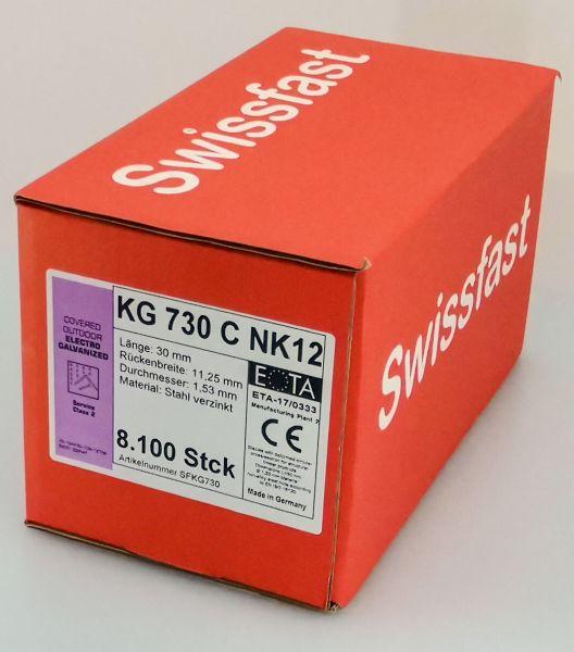 KG730CNK geharzte Klammern 30mm