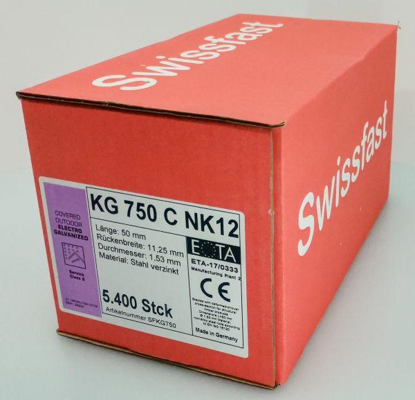 KG750CNK geharzte Klammern 50mm mit ETA