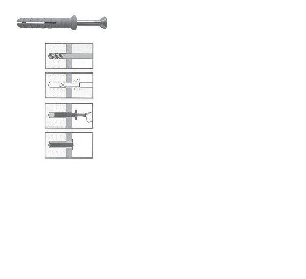 Nageldübel, Schlagschraube 6 x 30 mm 100 Stk.