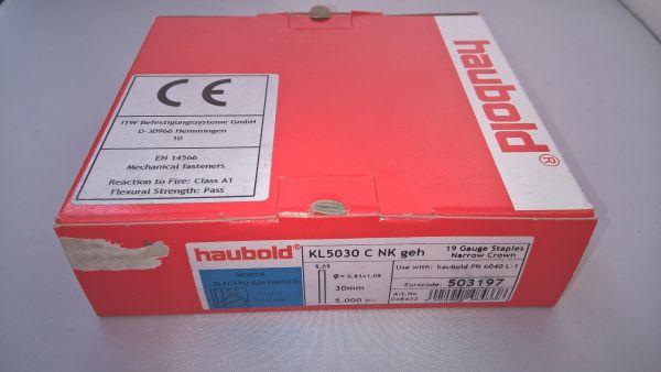 Haubold Klammern KL 5030 CNK/H - 5000 Stück