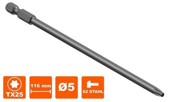 Schraubenklinge Tx25, passend zu Hilti SMD57, S-SY, 116mm, Torx Tx-25