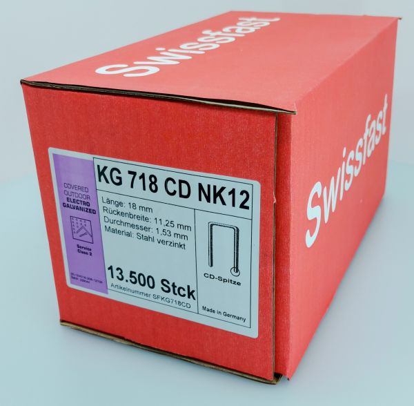 KG718CDNK Klammern 18mm