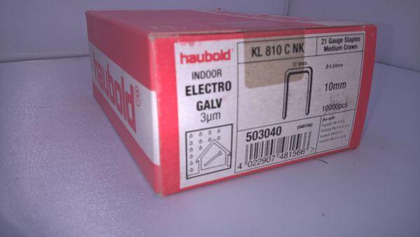 Haubold Klammern KL 810 CNK - 10000 Stück